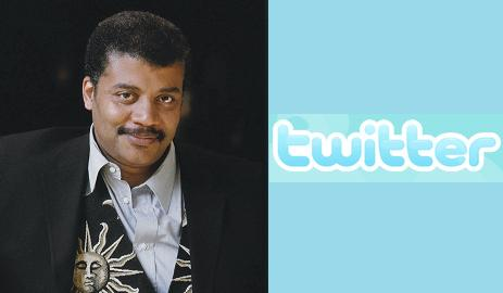 Click on the logo to Follow Neil deGrasse Tyson on Twitter